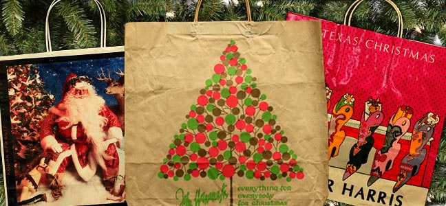 historical holiday shopping bags