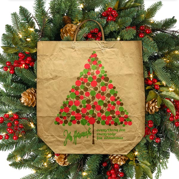 John Wanamaker Christmas Tree Satchel Bottom Bags
