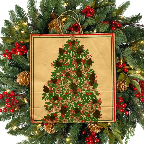 Pomeroys Christmas Tree Holiday Bag