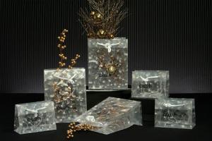 3D Prismatic Plastic Euro Tote - Clear