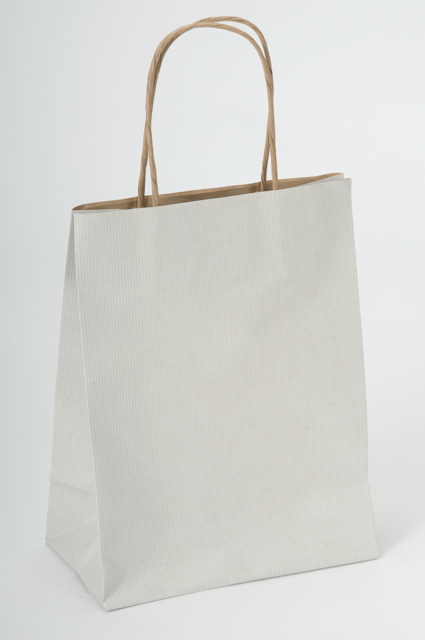 Off-White/Picket Fence White Kraft Paper Shopping Bags Recycled