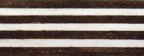 Cotton Ribbon: brown and white stripes