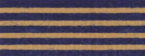 Cotton Ribbon: dark blue stripes on Kraft