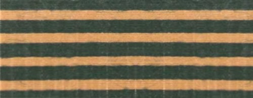 Cotton Ribbon:  Dark Green stripes on Kraft