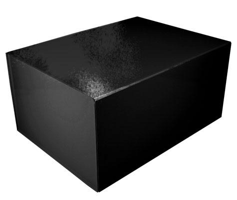 glossy black magnetic retail folding boxes 16 x 12 x 8
