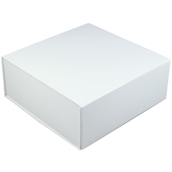 glossy white magnetic retail folding boxes 10 x 10 x 4-1/2