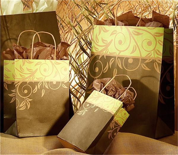 Antigua Kraft Paper Shopping Bags