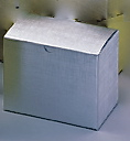 Silver Linen Foil 1-Piece Giftware Box