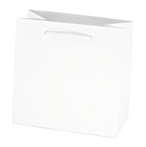 Euro Style White Paper Shopping Bags