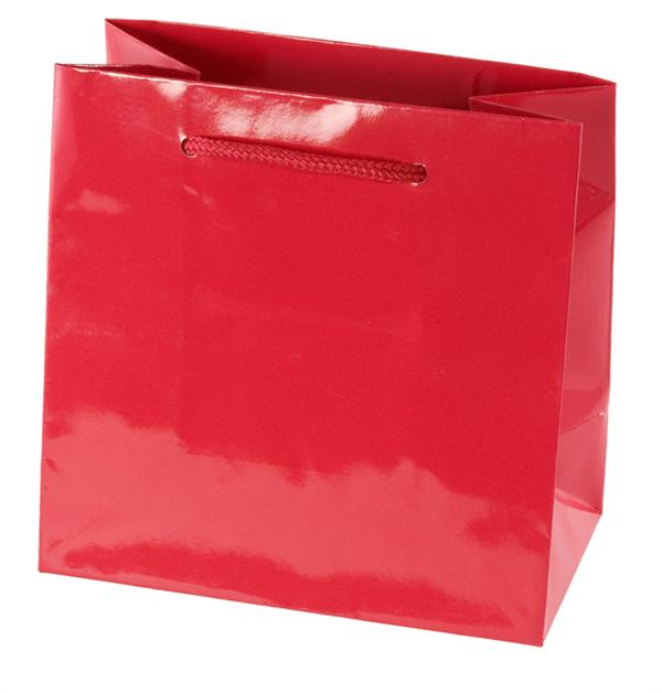Paper Shopping Bag Red