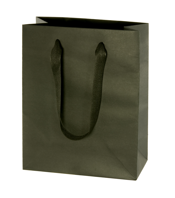 Euro Tote Bag with Cotton Twill Handles - Black