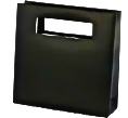BLACK Paper Shopping Bag with Die Cut Handles
