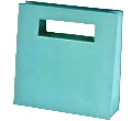 Heavy Weight Art Board Shopping Bag with Die Cut Handles - Aqua Blue