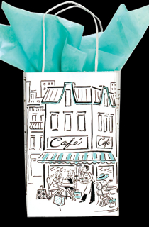 "Paper Shopping Bag - Paris Skyline (5-1/4"" x 8-1/4"" Prime Size)"
