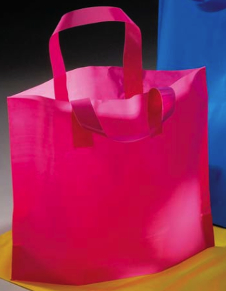 Plastic Shopping Bag - Solid, Bright Colors