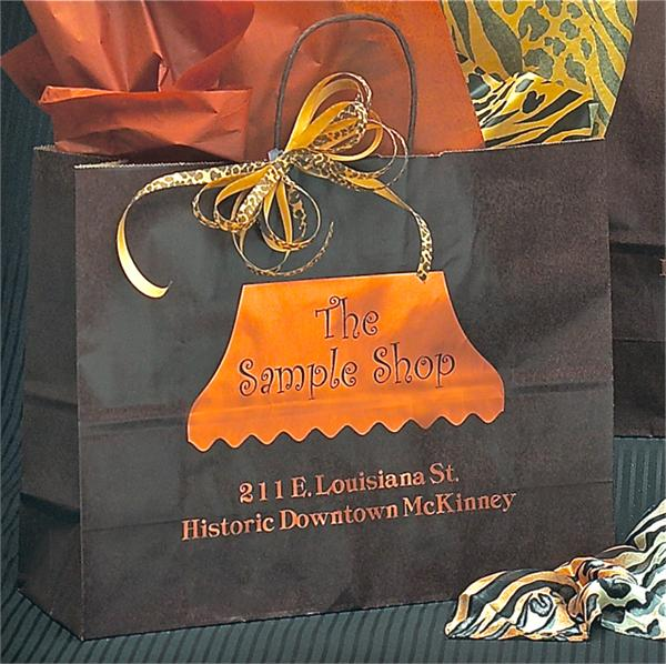 Chocolate Brown Shopping Bag