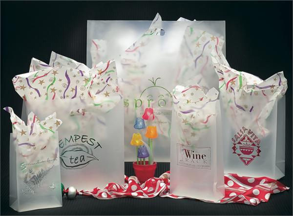 Frosted Clear Plastic Shopping Bag