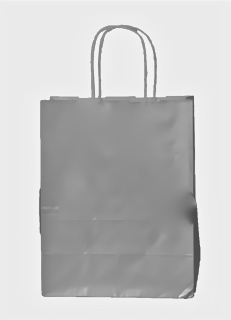 Glossy Silver Shopping Bag