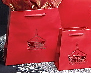 Red Trapezoid Shopping Bag