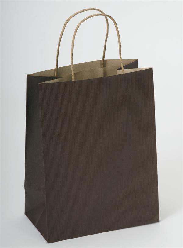 Chocolate Brown Paper Shopping Bag