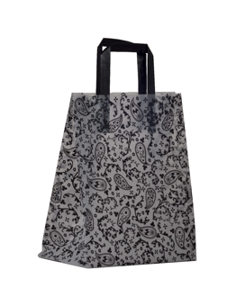 Black Paisley Pattern Shopping Bag