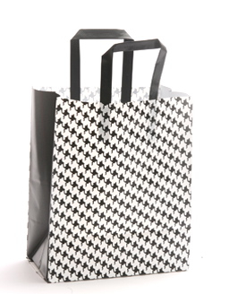 Plastic Shopping Bag Black and White