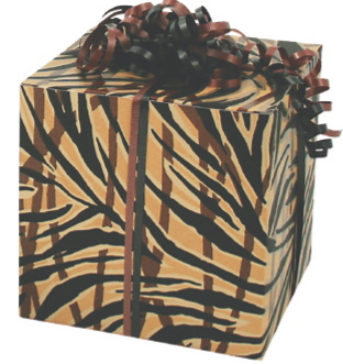 Tiger Stripes laminated paper gift box