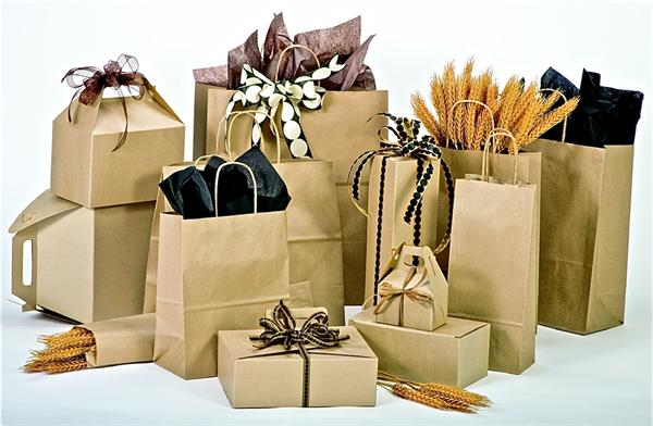 Natural Brown KRAFT Paper Shopping Bags & Matching Boxes