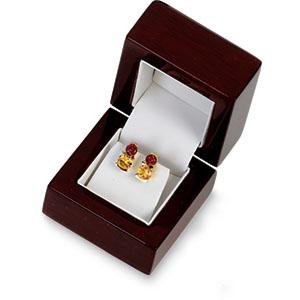 Jewelry Box - Earrings - Cherrywood