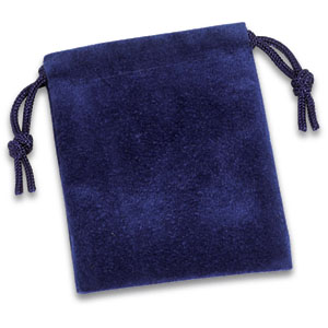 Blue Suede Pouch