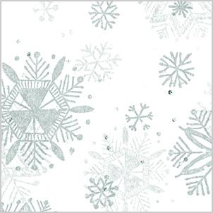 SNOWFLAKES DIAMONDS Tissue Paper