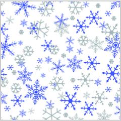 SILVER-PURPLE SNOWFLAKES Tissue Paper