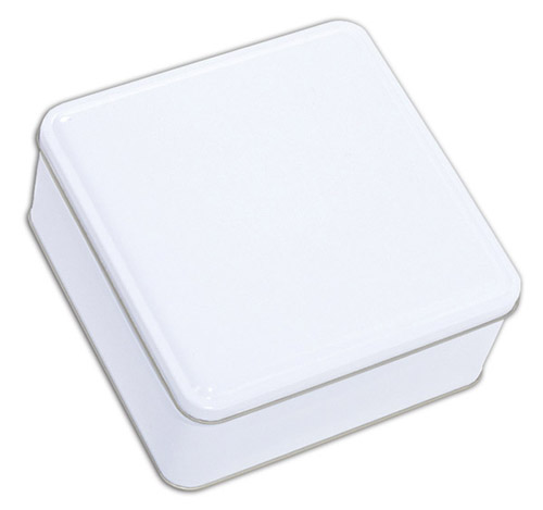 White Square Tin