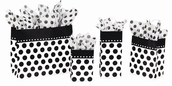 Domino Dots printed paper shopping bags