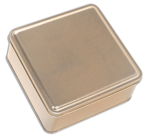 Gold Square Tin