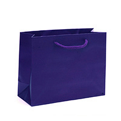 Matte Navy Shopping Bag