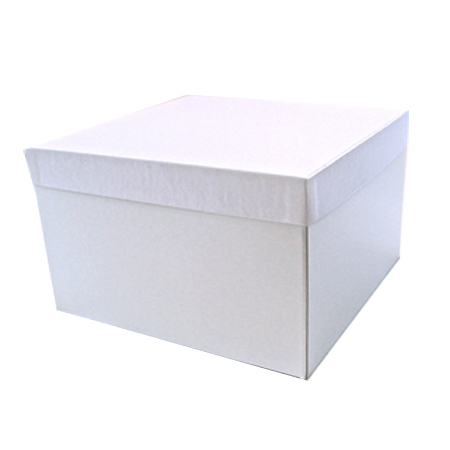 Giftware Boxes, 2-Piece Folding, Hi-Wall Bases with Rigid Set-up Lids - White Gloss