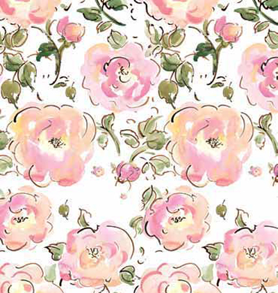 Burnt Rose Patterned Gift Wrap