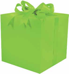 Gloss Solid Lime Gift Wrap