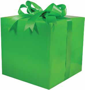 Gloss Solid Green Gift Wrap