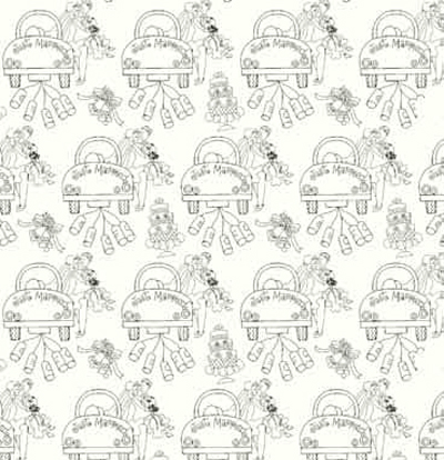 Happy Couple Pearl Patterned Gift Wrap