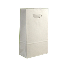 Die-cut Handelok Bag - White Kraft