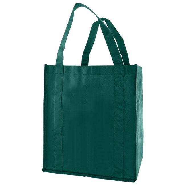 "Grocery Tote, Dark Green, 13"" x 10"" x 15"", 20"" Handle"
