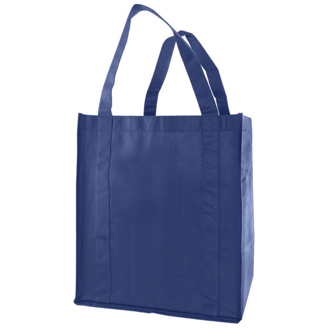 """Grocery Tote, Navy Blue, 13"""" x 10"""" x 15"""", 20"""" Handle"""