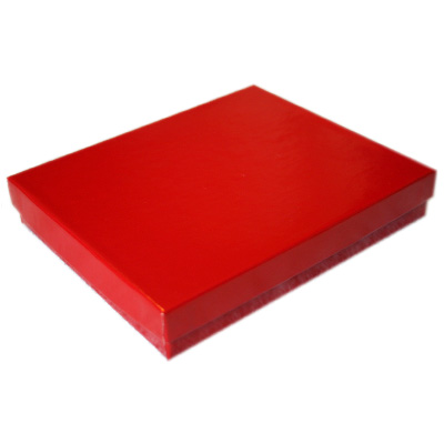 2-Piece Jewelry Boxes Padded - Cherry Red