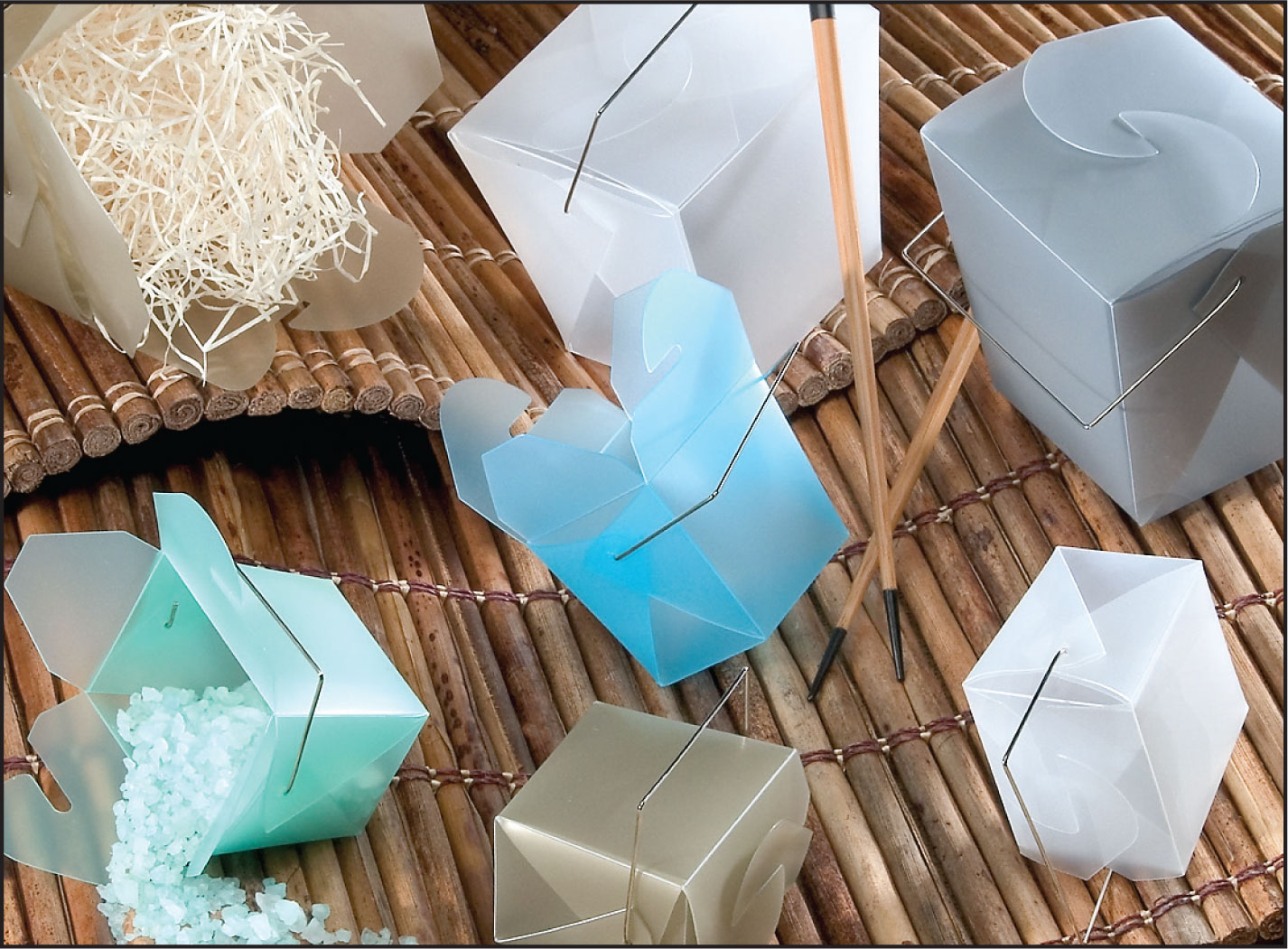 Frosted Poly Take Out Boxes