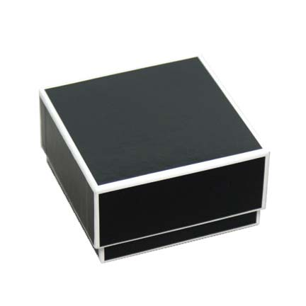 Sophie 2-piece Jewelry Boxes - Black with White Trim