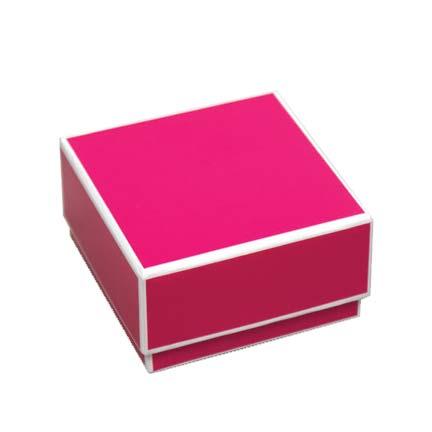 Sophie 2-piece Jewelry Boxes - Fuchsia with White Trim