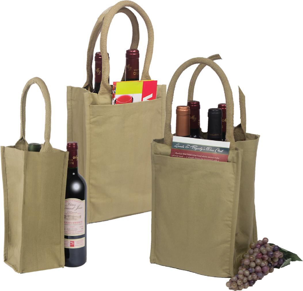 Reusable Cotton Wine Bags
