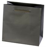 Euro Style Soft-Handle Laminated Paper Shopping Bag - Black